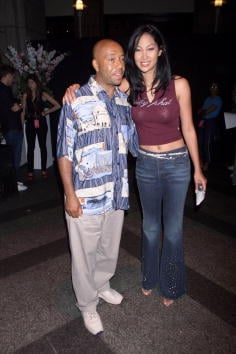 Russell Simmons and Kimora Lee Simmons at the Baby Phat Lingerie fashion show at the 4th Annual Urbanworld Film Festival launch party.The event took place in the Sony Atrium in New York City. 8/3/2000 Photo: Scott Gries/ImageDirect By Scott Gries