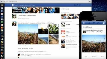 Facebook's redesigned News Feed. / CNET/Josh Lowensohn By Belo Content KMOV