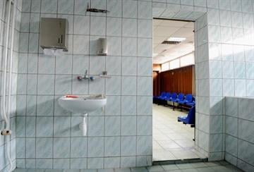 KRAKOW, POLAND - NOVEMBER 07:  A general view of changing facilities By Michael Regan