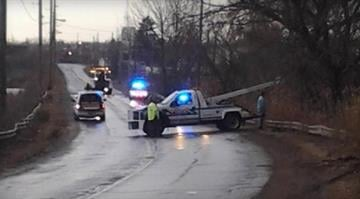 The scene after a fatal SUV crash in Warren, Ohio, that killed six teenagers. Image via WKBN. By Dan Mueller