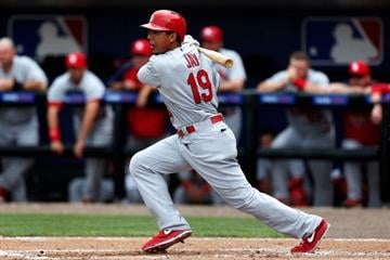 PORT ST. LUCIE, FL - FEBRUARY 27: Jon Jay #19 of the St. Louis Cardinals bats against the New York Mets at Tradition Field on February 27, 2013 in Port St. Lucie, Florida.  (Photo by Chris Trotman/Getty Images) By Chris Trotman