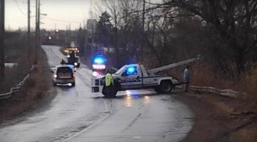 The scene after a fatal SUV crash in Warren, Ohio, that killed six teenagers. Image via WKBN. By Dan Mueller