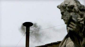 This 2005 file photo shows black smoke rising from a chimney on the Sistine Chapel, indicating that cardinals failed to elect a new pope in their conclave ballot. / PATRICK HERTZOG/AFP/Getty Images By Brendan Marks