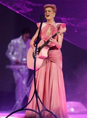 Katy Perry performs at the 39th Annual American Music Awards on Sunday, Nov. 20, 2011 in Los Angeles. (AP Photo/Matt Sayles) By Matt Sayles