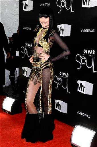 "Singer Jessie J arrives at the ""Vh1 Divas Celebrates Soul"" on Sunday, Dec. 18, 2011, in New York. (AP Photo/Charles Sykes) By Charles Sykes"