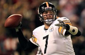 Pittsburgh Steelers quarterback Ben Roethlisberger passes against the San Francisco 49ers during the third quarter of an NFL football game in San Francisco, Monday, Dec. 19, 2011. (AP Photo/Marcio Jose Sanchez) By Marcio Jose Sanchez