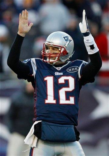 New England Patriots quarterback Tom Brady reacts against the Miami Dolphins during the second half of an NFL football game in Foxborough, Mass., Saturday Dec. 24, 2011. (AP Photo/Charles Krupa) By Charles Krupa