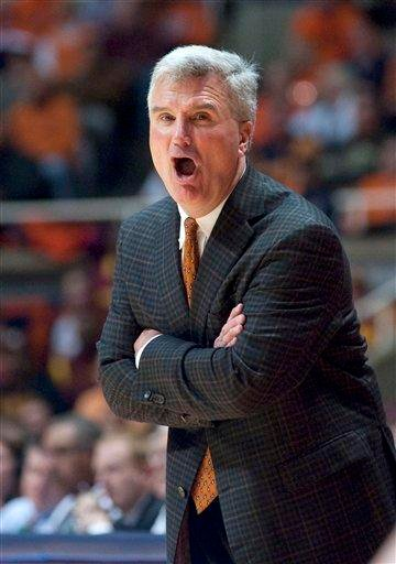 Illinois coach Bruce Weber shouts during the second half of an NCAA college basketball game against Minnesota in Champaign, Ill., Tuesday, Dec. 27, 2011. Illinois won 81-72 in double overtime. (AP Photo/Robert K. O'Daniell) By Robert K. O'Daniell
