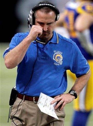 St. Louis Rams coach Steve Spagnuolo roams the sidelines during the first quarter of an NFL football game against the Cincinnati Bengals on Sunday, Dec. 18, 2011, in St. Louis. (AP Photo/Tom Gannam) By Tom Gannam