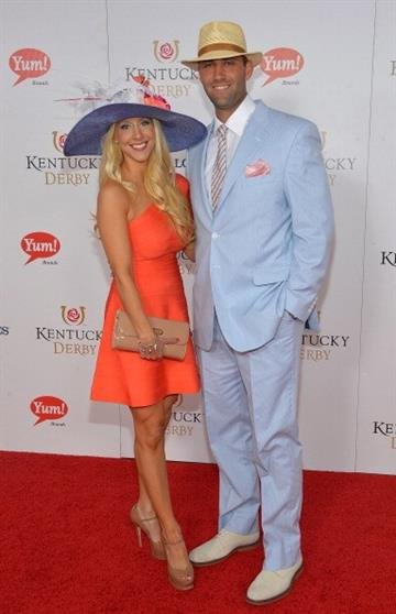 LOUISVILLE, KY - MAY 04:  Laurie and Matt Schaub celebrate the 139th Kentucky Derby with Moet & Chandon at Churchill Downs on May 4, 2013 in Louisville, Kentucky.  (Photo by Mike Coppola/Getty Images for Moet & Chandon) By Mike Coppola