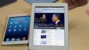 The iPad Mini, left, next to the full-size, fourth-generation iPad. Apple unveiled both devices October 2012 By Belo Content KMOV