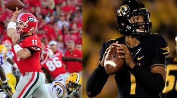Georgia QB Aaron Murray (left) and Missouri QB James Franklin (right), take center stage Saturday