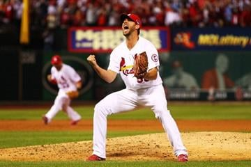 It's Waino's World and the Pirates suffered through it. Wainwright gave up one run in his complete game win that sent the Cards over the Bucs into the NLCS. By Dilip Vishwanat