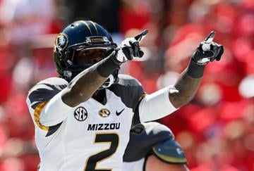 ATHENS, GA - OCTOBER 12:  L'Damian Washington #2 of the Missouri Tigers reacts after scoring a touchdown against the Georgia Bulldogs at Sanford Stadium on October 12, 2013 in Athens, Georgia.  (Photo by Kevin C. Cox/Getty Images) By Kevin C. Cox