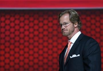 NEWARK, NJ - JUNE 30:  Chris Pronger of the Phildelphia Flyers attends the 2013 NHL Draft at Prudential Center on June 30, 2013 in Newark, New Jersey.  (Photo by Bruce Bennett/Getty Images) By Bruce Bennett