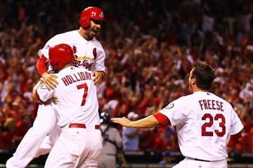 It took the Cardinals 13 innings to win Game 1 of the NLCS. The Cards got a bloop single from Daniel Descalso who came around on Beltran's RBI single to score the game's winning run. By Dilip Vishwanat