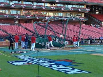 Cardinals NLCS Game 6 pre-game preps at Busch Stadium in St. Louis, October 18, 2013 (JJ Bailey, BaseballStL) By Bryce Moore