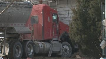Authorities say the driver of the truck was traveling in the area of Rte. 3 and E. 5th St. around 8:15 a.m. when he lost control and crashed into the house. By Brendan Marks