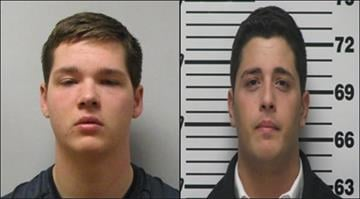 Alexander Gerth, 18, and Ramsey Fakhouri, 22, have been charged with robbing a woman at gunpoint outside a Highland bank on Feb. 14. By Brendan Marks