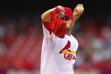 ST. LOUIS, MO - MAY 17: Starter Jaime Garcia #54 of the St. Louis Cardinals pitches against the Milwaukee Brewers at Busch Stadium on May 17, 2013 in St. Louis, Missouri. (Photo by Dilip Vishwanat/Getty Images) By Dilip Vishwanat