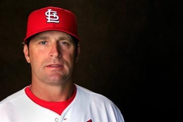 JUPITER, FL - FEBRUARY 24: Head coach Mike Matheny #22 of the St. Louis Cardinals poses for a portrait during photo day at Roger Dean Stadium on February 24, 2014 in Jupiter, Florida.  (Photo by Rob Carr/Getty Images) By Rob Carr