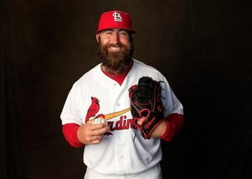 JUPITER, FL - FEBRUARY 24:  Pitcher Jason Motte #30 of the St. Louis Cardinals poses for a portrait during photo day at Roger Dean Stadium on February 24, 2014 in Jupiter, Florida.  (Photo by Rob Carr/Getty Images) By Rob Carr