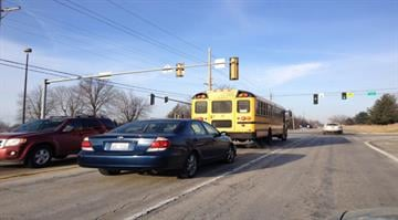 A school bus was involved in an accident Wednesday morning outside of a Metro East high school By Stephanie Baumer