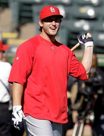 St. Louis Cardinals' David Freese takes batting practice Friday, Oct. 21, 2011, in Arlington, Texas. The Cardinals are scheduled to play the Texas Rangers in Game 3 of baseball's World Series on Saturday. (AP Photo/Tony Gutierrez) By Tony Gutierrez