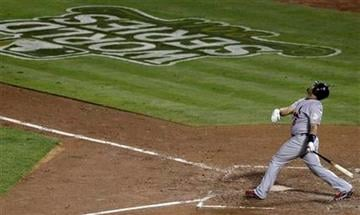 St. Louis Cardinals' Albert Pujols fouls out to first base during the fourth inning of Game 4 of baseball's World Series against the Texas Rangers Sunday, Oct. 23, 2011, in Arlington, Texas. (AP Photo/Tony Gutierrez) By Tony Gutierrez