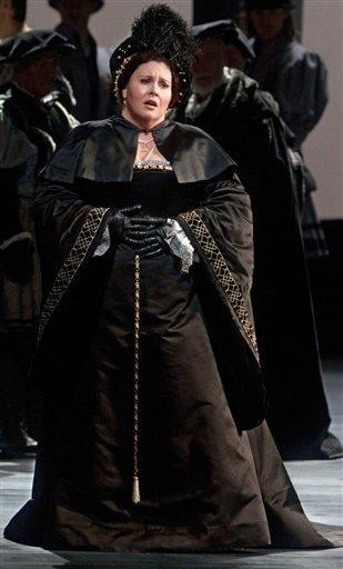 In this Oct. 21, 2011 photo provided by the Metropolitan Opera, Angela Meade performs in the title role of Donizetti?s ?Anna Bolena,? at the Metropolitan Opera in New York. (AP Photo/Metropolitan Opera, Marty Sohl) By Marty Sohl