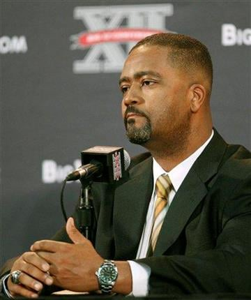 Missouri coach Frank Haith listens to a question during the Big 12 basketball media day Thursday, Oct. 20, 2011, in Kansas City, Mo. (AP Photo/Orlin Wagner) By Orlin Wagner