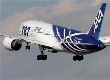 All Nippon Airways Boeing 787 takes off for the new airplane's inaugural commercial flight to Hong Kong at Narita International Airport in Narita, east of Tokyo, Wednesday, Oct. 26, 2011. (AP Photo/Itsuo Inouye) By Itsuo Inouye