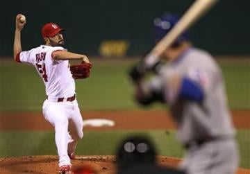 St. Louis Cardinals starting pitcher Jaime Garcia throws during the first inning of Game 2 of baseball's World Series against the Texas Rangers Thursday, Oct. 20, 2011, in St. Louis. (AP Photo/Jamie Squire, Pool) By Jamie Squire