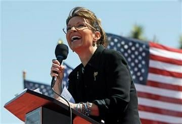 """Sarah Palin speaks at the """"Showdown in Searchlight"""" tea party rally in Searchlight, Nev., Saturday, March 27, 2010. (AP Photo/Jae C. Hong) By Jae C. Hong"""