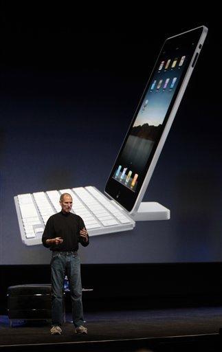 Apple CEO Steve Jobs presents the iPad at the Moscone Center in San Francisco, Wednesday, Jan. 27, 2010. (AP Photo/Marcio Jose Sanchez) By Marcio Jose Sanchez
