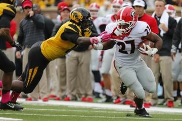COLUMBIA, MO - OCTOBER 11:  / on October 11, 2014 at Faurot Field/Memorial Stadium in Columbia, Missouri. (Photo by Kyle Rivas/Getty Images) By Kyle Rivas