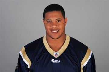 EARTH CITY, MO - CIRCA 2011: In this handout image provided by the NFL, Rodger Saffold of the St. Louis Rams poses for his NFL headshot circa 2011 in Earth City, Missouri. (Photo by NFL via Getty Images) By Handout