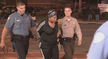 Missouri State Senator Jamilah Nasheed was arrested outside the Ferguson Police Department Monday night. By Stephanie Baumer