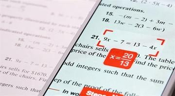 The PhotoMath app solves equations for you using your phone's camera. By Stephanie Baumer
