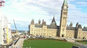 One person was shot Wednesday morning at a war memorial near Canada's Parliament in Ottawa, police there said, amid media reports that gunfire also was heard in Parliament. By Twitter/@BariLeia