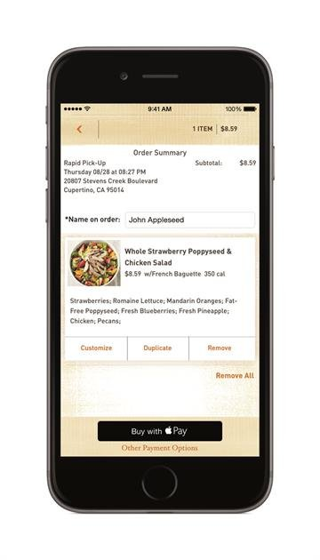 A publicity photo of the Apple Pay interface as shown on the iPhone 6. Apple Pay launched on October 20, 2014. By From Apple