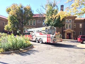 Emergency crews were called to Flynn Park Elementary School Wednesday afternoon. By Stephanie Baumer