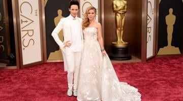 HOLLYWOOD, CA - MARCH 02: TV Personalities Johnny Weir (L) and Tara Lipinski attend the Oscars held at Hollywood & Highland Center on March 2, 2014 in Hollywood, California.  (Photo by Jason Merritt/Getty Images) By Jason Merritt