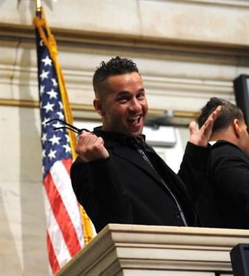 NEW YORK - JULY 27:  TV personality Michael 'The Situation' Sorrentino rings the opening bell at the New York Stock Exchange on July 27, 2010 in New York City.  (Photo by Jason Kempin/Getty Images) By Jason Kempin