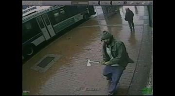 A man charged at four New York police officers Thursday October 23, 2014, metal hatchet in hand, hitting one officer in the right arm and another in the head, the city's police commissioner said. By Stephanie Baumer
