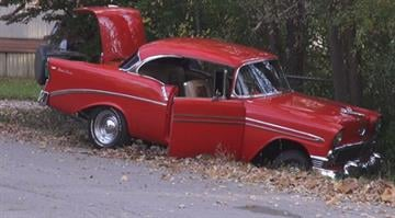 A 1956 Chevy Car was recovered after being stolen from the 1400 block of East 5th Street around 5:30 a.m. Monday, police say. By Stephanie Baumer