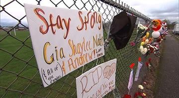 One of four students injured when a freshman opened fire in a Washington high school cafeteria has died, bringing the death toll to two. Three others remain hospitalized from the Friday shooting at Marysville-Pilchuck High School. By Stephanie Baumer