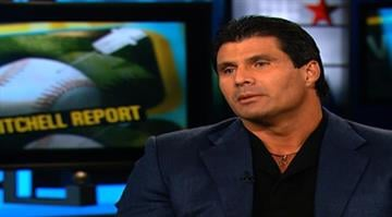 Jose Canseco during an interview with Rick Sanchez in 2007. By Stephanie Baumer