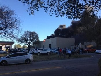A plane appears to have crashed at a building at Wichita's Mid-Continent Airport in southern Kansas on Thursday morning, CNN affiliate KSNW reported. By Courtesy Ryan Weatherby