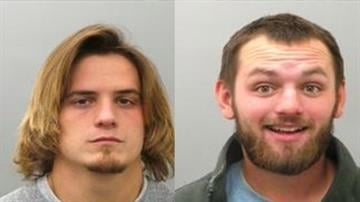 Timothy Church and Brandon Travis are both charged with trespassing By Daniel Fredman